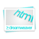 file, paper, dreamweaver, document, html icon