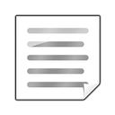 text, clipping icon