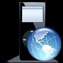 ipod,nano,blackweb icon