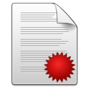 Mimetypes document seal icon