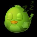 bird, sleep icon