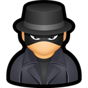 hat, spy, cyber, user, undercover icon