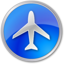 airport,blue icon
