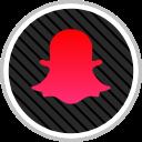 snapchat, online, social, media icon