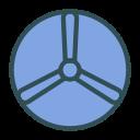 fan, disk, shape, brand icon