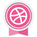 dribbble, social, ribbon icon