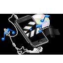 music, video, multimedia, iphone, earphone, note, apple icon