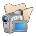 folder,beige,video icon
