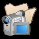 folder,beige,video icon