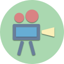 digital, multimedia, video, cinema, camera, movie, film icon