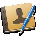 book, blue, address icon