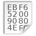 text,hex,file icon