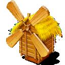 windmill, mill, grist-mill icon