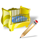 cradle,write,writing icon