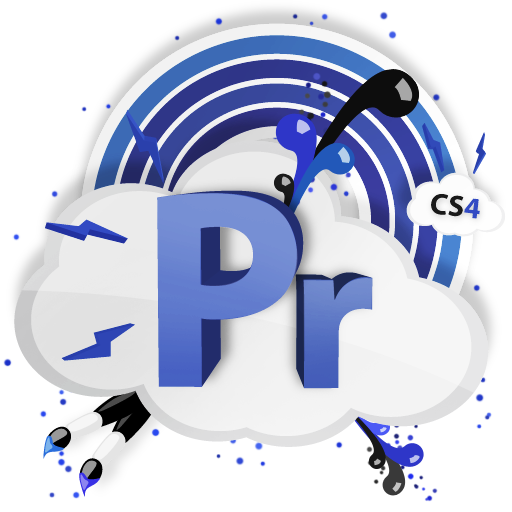 cs, adobe, pr, cs4 icon
