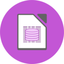 libreoffice base flat icon