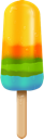 colorful, popsicle icon