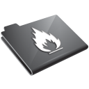 grey, flame icon