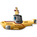 yellow, submarine icon