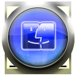 blue, finder icon