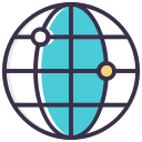 world, globe, global, link icon