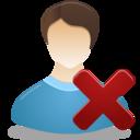 Remove Male User icon