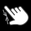 pinch, scroll, interactive, hand, swipe, gesture, finger icon