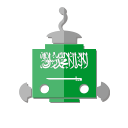 sa, robot, bot, saudi arabia, flag, telegram icon