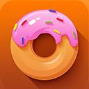 donut, desert icon