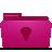 idea, pink, folder icon