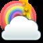 Cloud, , Rainbow icon