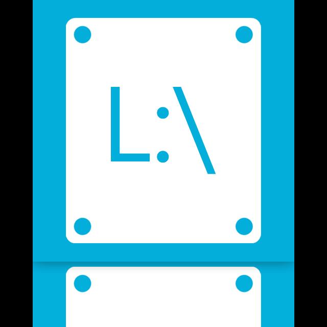 l, mirror icon