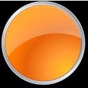 circle, orange, round icon
