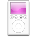 ipod, mp3 player, magenta icon
