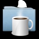 Folder Blue Coffee icon