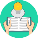 book, idea, energy, knowledge icon