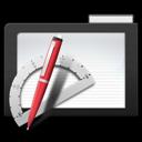 app, dark, folder icon