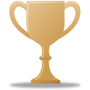 bronze, award, trophy icon