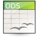open document, oasis, application, spreadsheet icon