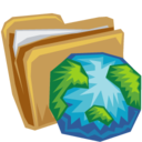 folder,earth icon