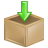 Arrow, Box, Download, Inventory icon