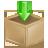 down, box, arrow, descending, decrease, download, descend, fall icon