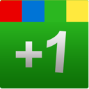 google+, google, green, plus, one, +1, square icon