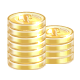 gold, coins, money, cash icon