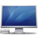 screen, display, cinema, macmini, blue, monitor, computer icon