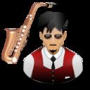 musician, saxophone icon