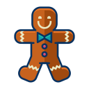 man, dessert, cookie, sweet, gingerbread, christmas icon