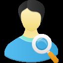 Male user search icon