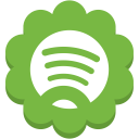 media, spotify, social, round, flower icon