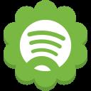 media, spotify, social, round, flower icon